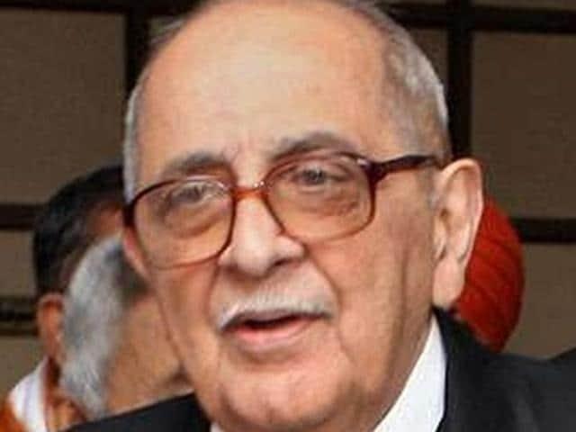 Senior advocate Fali S Nariman
