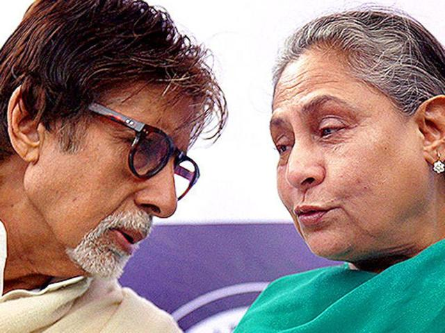 Amitabh Bachchan and Jaya Bachchan during a felicitation ceremony in Mumbai recently.