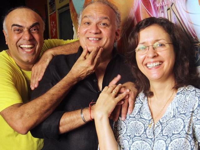 Rajit Kapur, Rahul DaCunha and Shernaz Patel have been working together for 25 years as part of Rage, a Mumbai-based theatre group.(Photo: Pramod Thakur/HT)