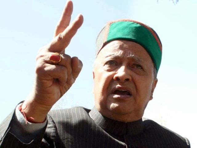 File photo of Himachal Pradesh CM Virbhadra Singh.