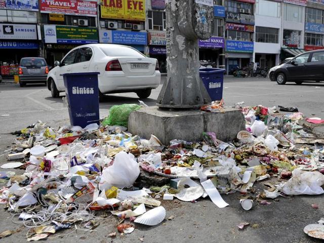 Mounds of garbage at phase 10, SASNagar.