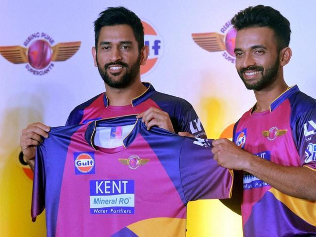Pune team owner Sanjiv Goenka (left) says despite the presence of Faf du Plessis and Steve Smith, Mahendra Singh Dhoni stays the boss.