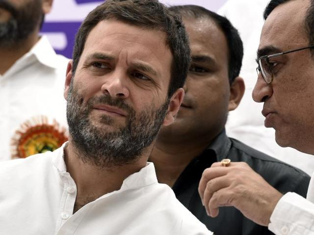 Congress Vice-President Rahul Gandhi on Thursday condemned the use of force against students at the National Institute of Technology, Srinagar. (Photo by Mohd Zakir/ Hindustan Times)