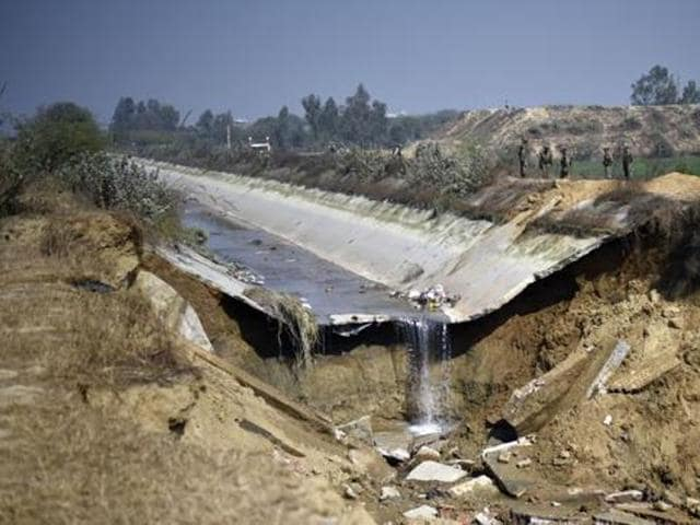 Munak canal was badly damaged in stretches during the violent Jat agitation.