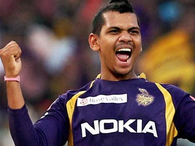 A file photo of Kolkata Knight Riders bowler Sunil Narine.