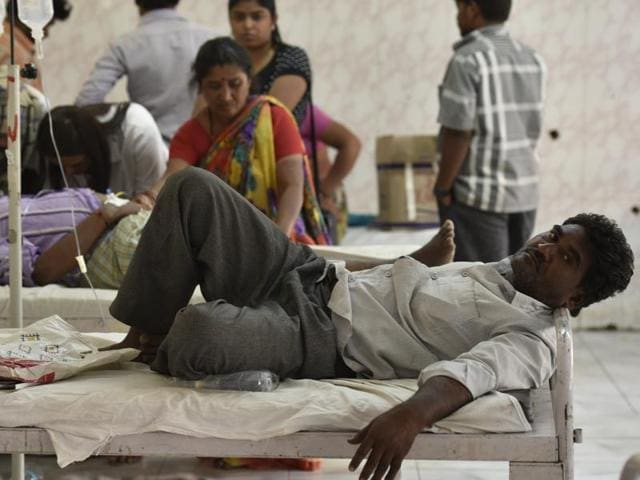 Shaikh Zameer, a businessman from Ausa Tehsil, 60km from Latur city, lies on a bed at the government medical college and hospital at Latur.