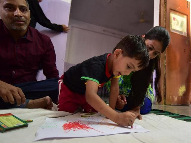 A programme organised by Shankara Special School on World Autism Day in Noida, April 2