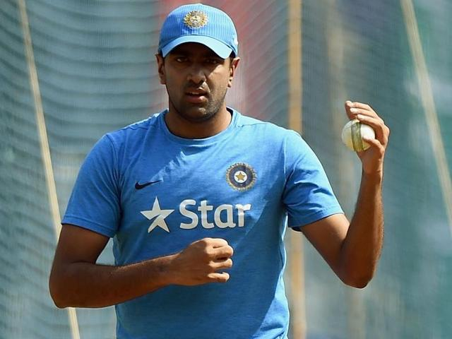 Ravichandran Ashwin bowls in the nets during a practice session in Bengaluru.