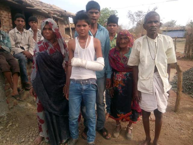 The men assaulted the 13-year-old boy, Ashok (above), and then threatened Dalits in the village with dire consequences if anyone defied the parochial order.