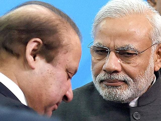 The Pathankot attack has led to stalling of the resumption of dialogue between India and Pakistan, which had been kick-started by a visit to Pakistan late last year by external affairs minister Sushma Swaraj and a December 25 stop-over visit to Lahore by Prime Minister Narendra Modi during which he held talks over tea with his Pakistani counterpart Nawaz Sharif.(Arvind Yadav/HT Photo)