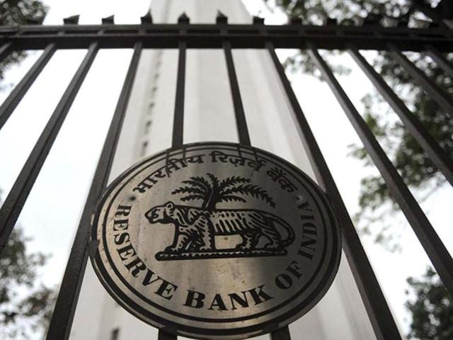 The facade of the Reserve Bank of India (RBI) head office in Mumbai.