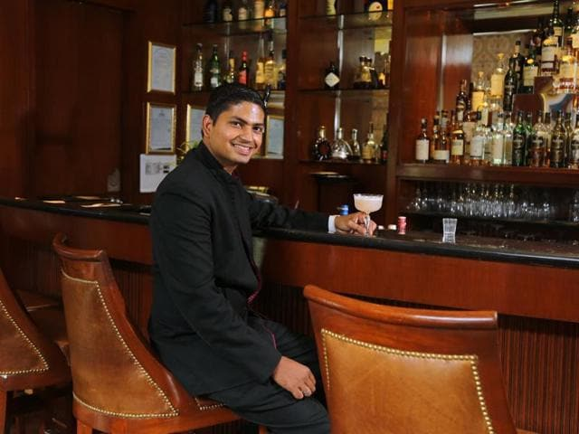 Yogesh  Kumar, head bartender and supervisor at ITC Sheraton, who came first at the recently held Bacardi Legacy Cocktail Competition in India.