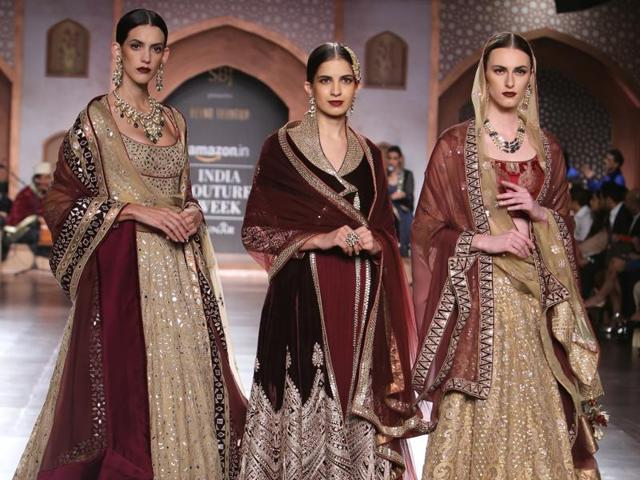 Deep wine and muted tones are in trend this bridal season, says designer Reynu Taandon.