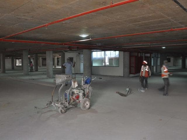 The parking, which has come up at the existing Gurdev parking, was to be completed in October last year.
