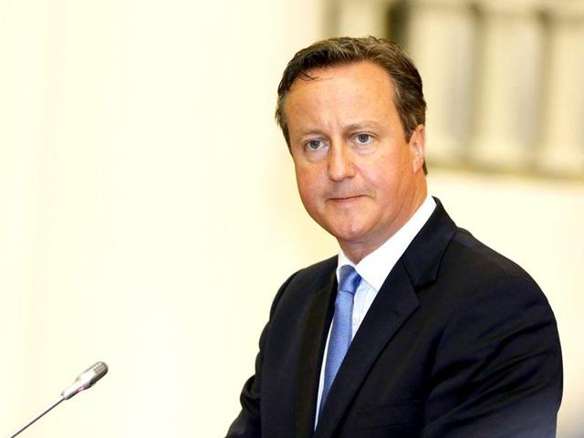 File photo of British Prime Minister David Cameron.