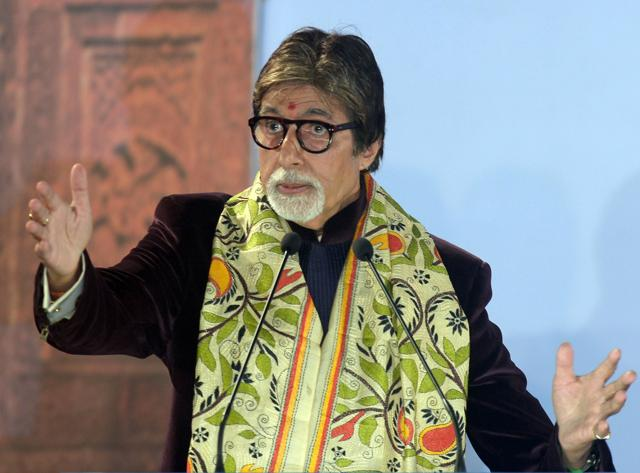 A file photo of Bollywood actor Amitabh Bachchan speaking during the start of the 21st Kolkata International Film Festival in Kolkata. The actor is among celebrities who feature in a massive leak of documents, some of which reveal hidden offshore assets.