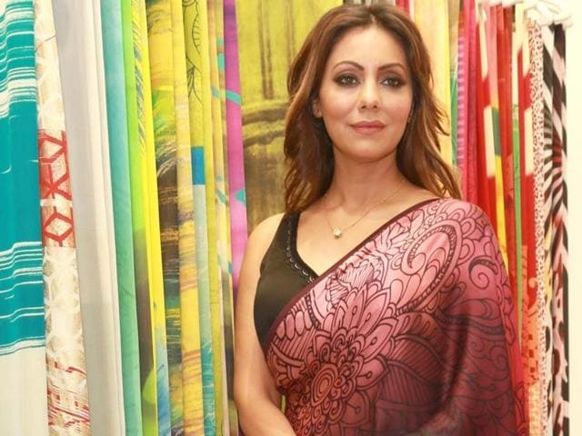 Gauri Khan during the launch of the Satya Paul's Spring-Summer 2016 collection 'Cocktails and Dreams'.)