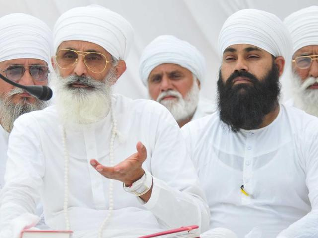 Thakur Dalip Singh, the estranged brother of Namdhari sect head Satguru Uday Singh in Sirsa on Saturday.