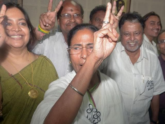 West Bengal chief minister and head of the Trinamool Congress (TMC) Mamata Banerjee files her nomination for the state assembly elections in Kolkata on April 8, 2016.