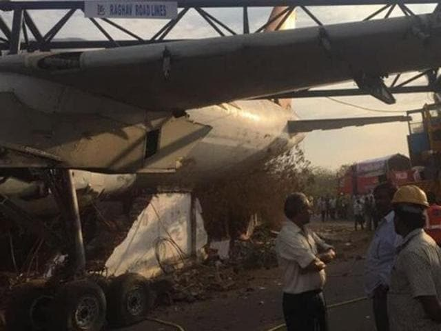 A crane carrying an Air India aircraft lost its balance and crashed near Begumpet airport in Telangana on Sunday morning, ANI reported. No casualties have been reported.