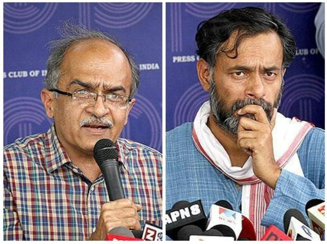 Swaraj Abhiyan, a group formed by Yadav and Bhushan after their expulsion from the Aam Aadmi Party (AAP) last year, completes a year on April 14.