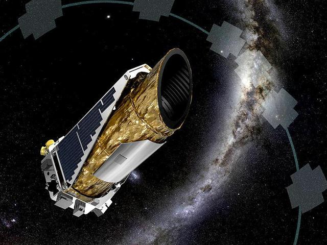 The artistic concept shows Nasa's planet-hunting Kepler spacecraft.