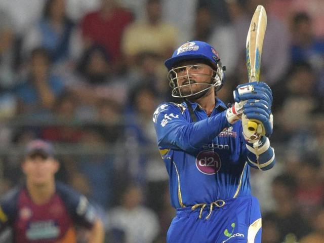 Harbhajan Singh's 30-ball 45 helped Mumbai Indians post a modest 121/8.