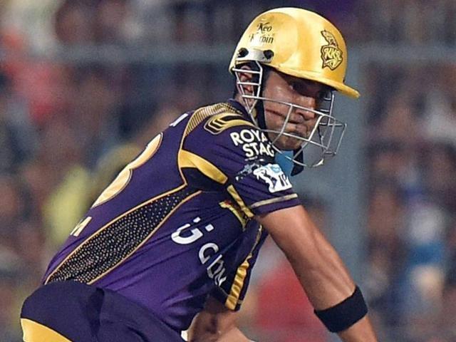 Gautam Gambhir of Kolkata Knight Riders in action in Indian Premier League (IPL) against Delhi Daredevils.