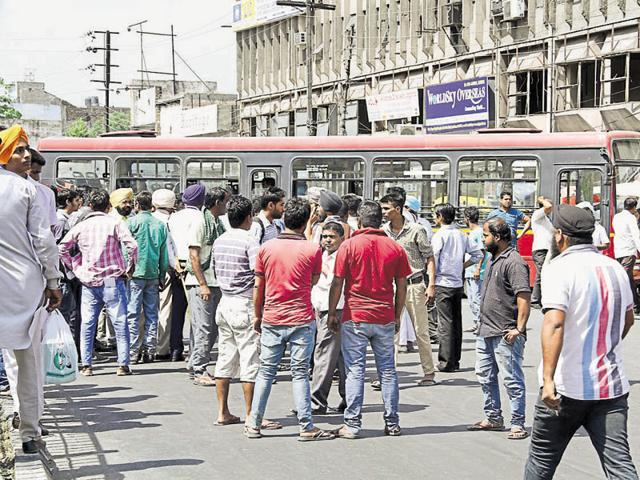 Eight injured,Clash,City Bus Service