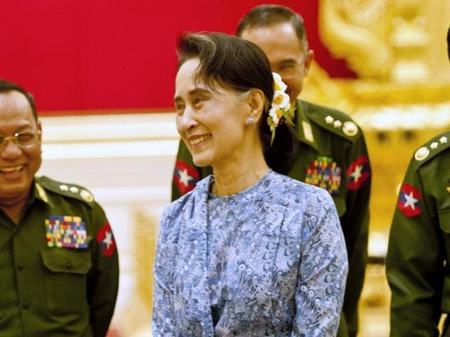 Myanmar's NLD party leader Aung San Suu Kyi was effectively appointed Prime Minister by the passage of a bill in Myanmar's parliament which made her 'state counsellor'.