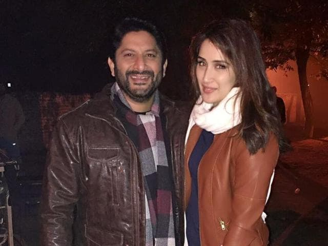 Bollywood actor Arshad Warsi secretly shot a scene featuring co-star Sagarika Ghatge while she was rehearsing for the same, on the sets of their next.
