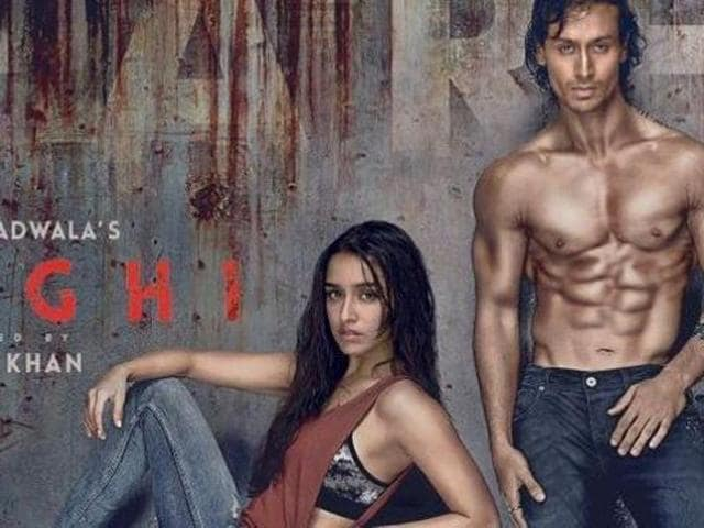 Tiger Shroff and Shraddha Kapoor in the Baaghi poster. (Twitter)