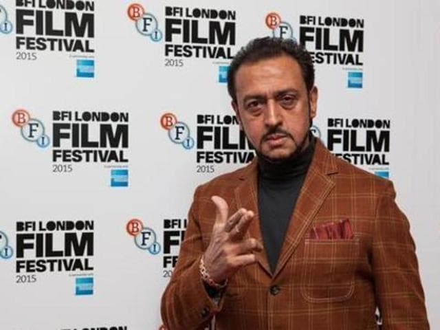 Actor Gulshan Grover poses for photographers upon arrival at the premiere of the film Beeba Boys, showing as part of the London Film Festival on Oct. 8, 2015. (AP)