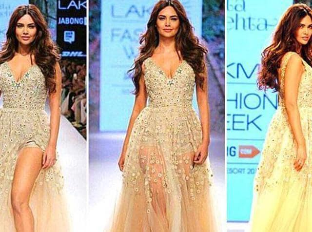 Esha Gupta during a fashion show in Mumbai. (AFP)