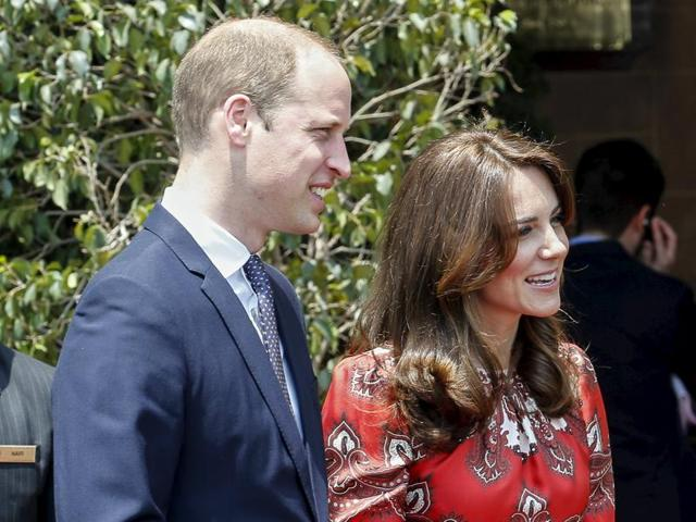 Britain's Prince William and his wife Catherine.