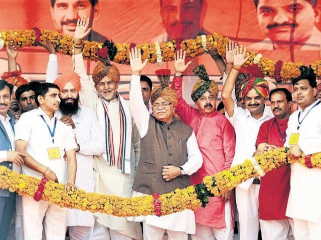 Chief minister Manohar LalKhattar made the comments at a rally at Kankrola-Bhangrola village in Badshahpur constituency on Sunday.
