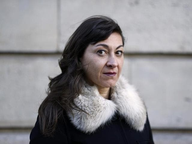 Lynsey Addario poses for a photograph in Paris. Her biography book untitled It's What I Do was released on April 4.