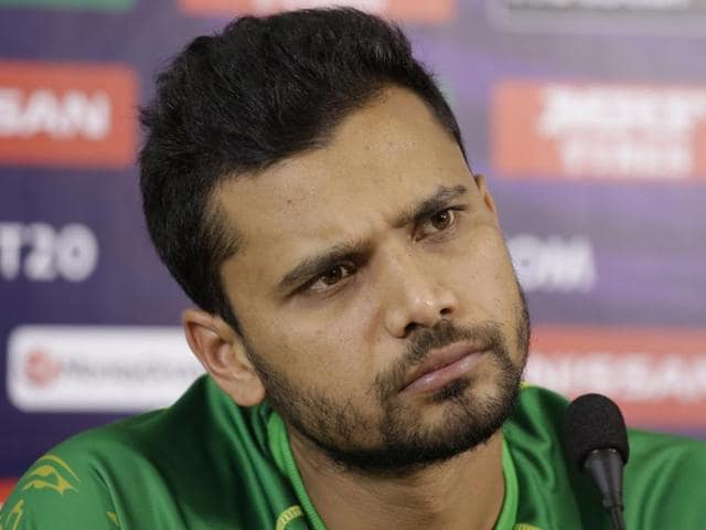 Bangladesh's Mashrafe Mortaza attends a press conference prior his team match against New Zealand.