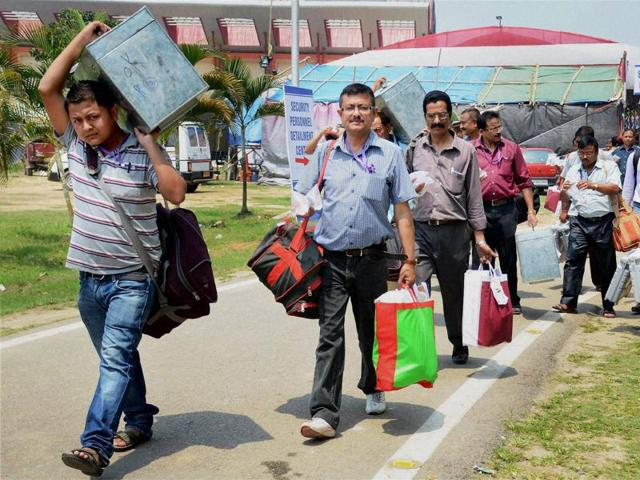 Over 70% votes were cast till 3 PM in the second and final phase of polling in 61 Assembly constituencies of Assam on Monday, to decide the fate of 525 contestants.