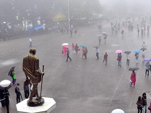 Shimla was one of the areas which enjoyed heavy rainfall in 2015.