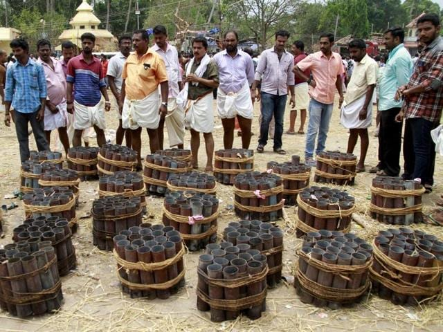 The fire blaze at the Puttingal Devi Temple on Sunday claimed dozens of lives and damaged buildings in the area. Temples across the state have decided to avoid firecrackers during festivities.