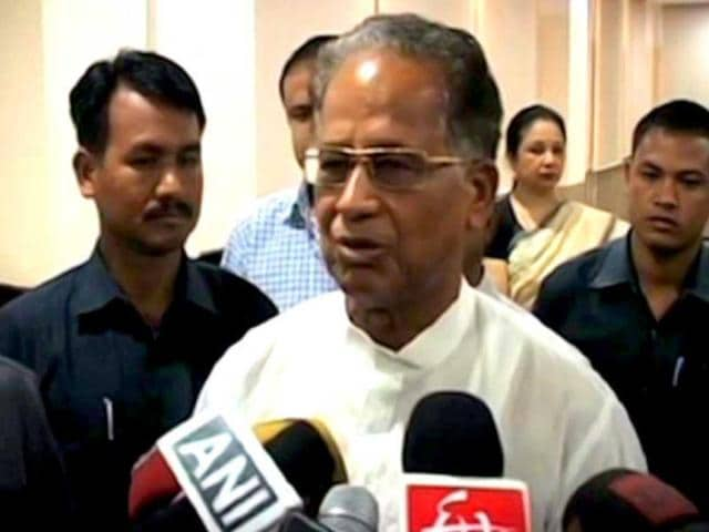 Tarun Gogoi held a press conference when voting was on.
