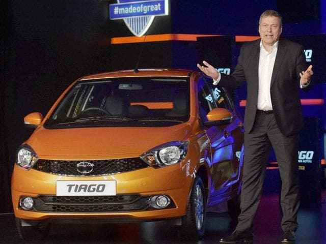 Tata Motors CEO and MD Guenter Butschek at the launch of Tata Motors' Tiago in Mumbai.