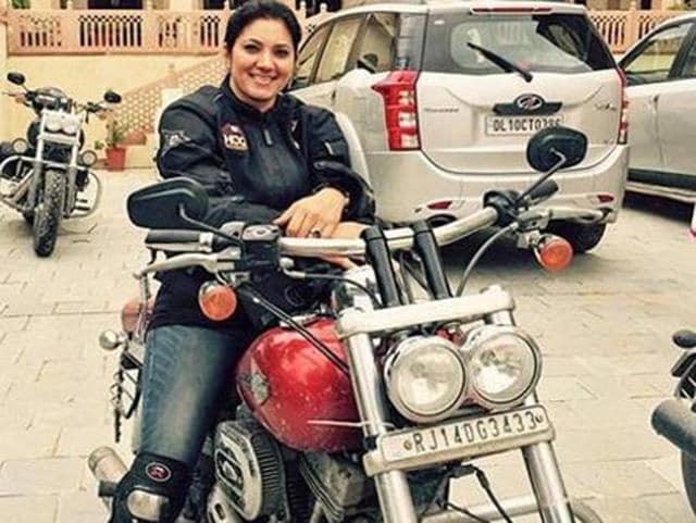 Motorcyclist Veenu Paliwal, who died in a road accident in Vidisha, Madhya Pradesh, on Monday.