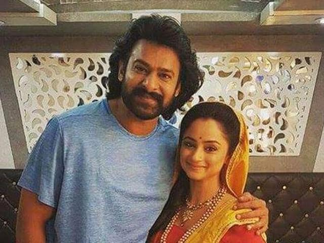 Prabhas and Madirakhshi Mundle had a fan moment in Hyderabad recently.