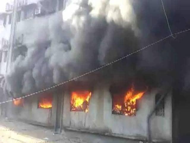 Fire in Bhiwandi,Thane,Fire in garment manufacturing unit in Bhiwandi