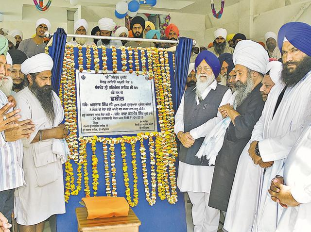 SGPC president Avtar Singh Makkar inaugurates the chhabeel at the Golden Temple complex in Amritsar on Monday.