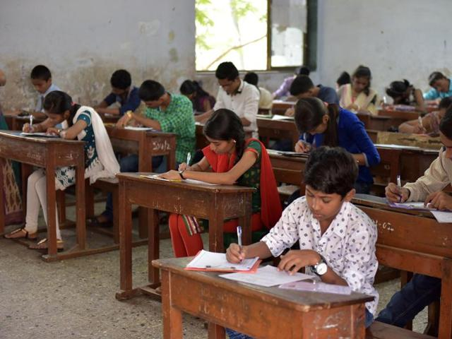 The department could manage to get 600 teachers to check 5 lakh copies, and the Hindi-speaking state of Madhya Pradesh faces severe shortage of Hindi and Sanskrit evaluators.