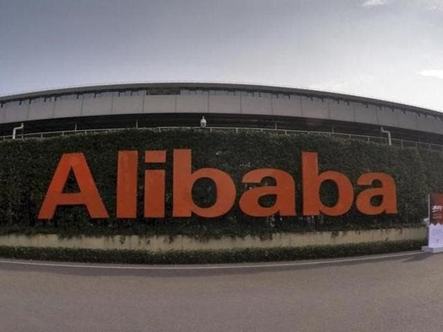 A logo of Alibaba Group is pictured at its headquarters in Hangzhou, China.