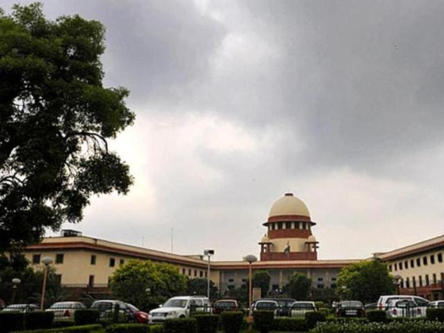 A view of the Supreme Court building. The top court criticised the government for allegedly hindering the process of the appointment of high court judges. (Sonu Mehta/HT Photo)